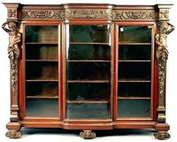 glass door bookcase antique with vintage small doors bookcases g