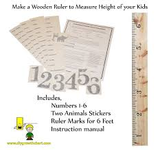 Growth Chart Ruler Decal Personalized Diy Growth Chart Ruler Decal Kit For Wall Or Do It Yourself Proj