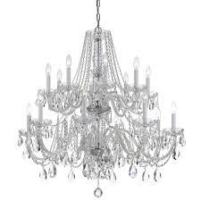 crystorama traditional crystal 16 light clear swarovski strass crystal chandelier i