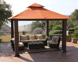 DIY:Beautiful Gazebo With DIY Canopy Designs For Your Home Red Brown Curve  Gazebo With