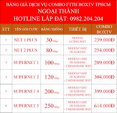 Combo Internet và Truyền Hình Cáp Viettel 2021