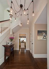 eclectic lighting fixtures. Edison Bulb Light Fixtures Entry Contemporary With Banister Baseboards Chandelier Console Eclectic Lighting M
