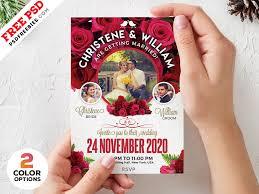Wedding Invitation Card Template Psd Set By Psd Freebies On