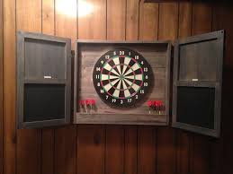 dart board cabinet pictures cabinet biji us protect your wall from stray darts with this diy dartboard cabinet