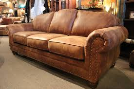 rustic leather sofa. Rustic Leather Sofa Western Brown Couch In Nailhead Trim Uaunison Decoration