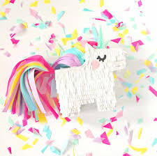 have the kids make one of these little unicorn personal piñatas they can choose to fill them or keep them as decoration your kids are going to love making