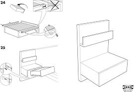 Ikea Instruction Manuals Ikea Tables Malm Bedside Table 20x16 Pdf Assembly Instruction