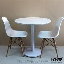 luxury home dinner furniture acrylic solid surface polished restaurant kfc mcdonald custom round dining table with chairs