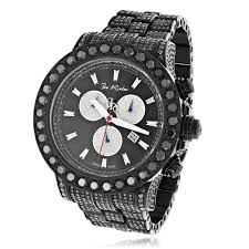 diamond joe rodeo watches for men women hip hop watches custom joe rodeo mens black diamond watch 36 7ct