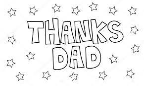 Bedankt Papa Sterren Kleurplaat Stockvector Keeweegirl 173530354
