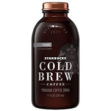 black iced coffee starbucks.  Black Starbucks Cold Brew Coffee Black Unsweetened 11 Oz Glass Bottles 6 Count To Iced Coffee R