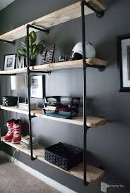 diy office shelves. Interior Fun: Update: Manly And Inspired Office Get Rid Of The Book Shelves We Have In Diy Y