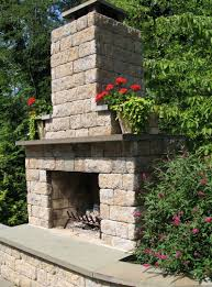 building an outdoor fireplace with cinder block home design