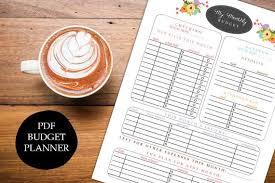 Printable Budget Planner Organizer Monthly Financial Finances Organizer Diy Pdf Jpeg Template Family Budget Instant Download Digital