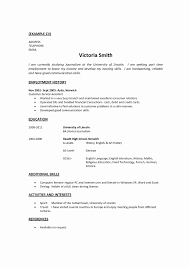 Work History Resume Example Resume Work History format Luxury Confortable Resume Employment 61