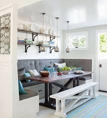 White Breakfast Nook Cozy Dining Room Furniture With Outstanding Corner Breakfast Nook
