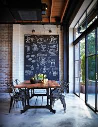 industrial office space. Love The Idea Of A Large Chalkboard On An Old Brick Wall In Industrial Office Space