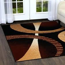 designer home inch x inch circles pattern area rug brown rugs for persian rugs