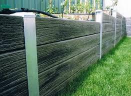 steel and lumber retaining wall modern