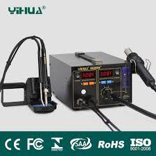 Горячая 3 в 1 SMD <b>паяльная станция YIHUA 968DB</b> + паяльная ...