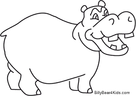 Hippo Coloring Page Sweetlooking Hippo Coloring Pages Baby Hippo
