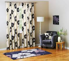 fl black and cream window curtain in peaceful living space