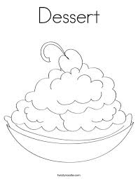 Small Picture Dessert Coloring Page Twisty Noodle