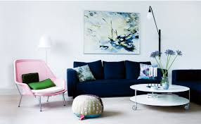 Navy Blue Living Room Decor 21 Different Style To Decorate Home With Blue Velvet Sofa