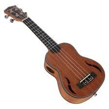 <b>ABGZ Irin Soprano Ukulele</b> 21 Inch Walnut Wood Acoustic Guitar ...
