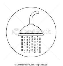 shower head clip art. Showerhead Icon - Csp43889981 Shower Head Clip Art N