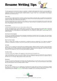 Resume Writing Tips Fetching Resume Writing Advice Tips Career