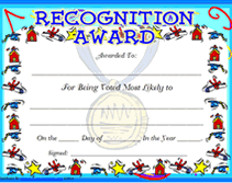 Free Printable Most Likely To Blank Awards Certificates Templates