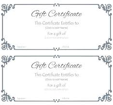 Framed Certificate Idea How To Make Template Gift Templates