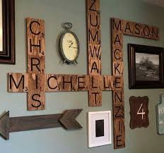 Scrabble Wall Image Gallery Letter Wall Art
