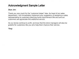 Acknowledgement Of Letter Received How To Write A Letter Of Acknowledgment