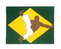 capoeira art martial arts decor for boys brazilian art capoeira gift folk art painting boy room decor studio decor batizado gift