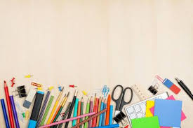 school desk top.  Top School And Office Supplies Over Table Top View With Copy Space  Stock Photo Throughout Desk P