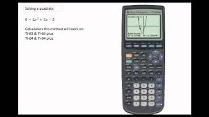 using the ti 84 to solve a quadratic using the graphing function