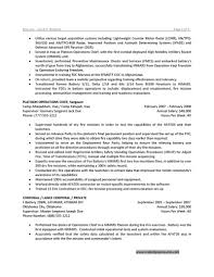 Resume Cover Letter Military Resume For Study