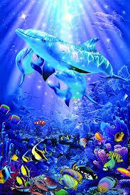 イルカのアート