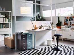 ikea home office. A Home Office Inside The Living Room With A Desk In Ash Veneer And Swivel Ikea M