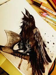 Odins Raven By Adlibber эскиз идеи для татуировок татуировки и