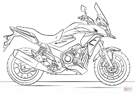 Small Picture Honda Motorcycle coloring page Free Printable Coloring Pages