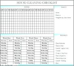Housekeeping Schedule Template Cleaning Service Checklist Template