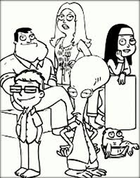 Small Picture American Dad Coloring Pages Color Zini