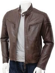 men s brown leather biker jacket maikop front