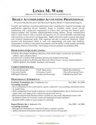 Accounts Payable Resume Objective Resume Work Template