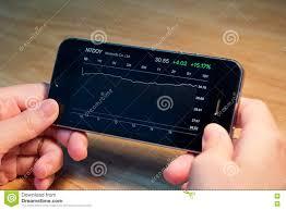 Nintendo Co Ltd Stock Chart On Iphone5s Editorial Stock