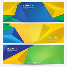 free banner backgrounds geometric brazil banners background set vector free download