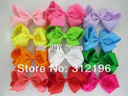 40pcs lot baby girls 4 5 grosgrain ribbon hair bows with clip boutique hair bows hair accessories
